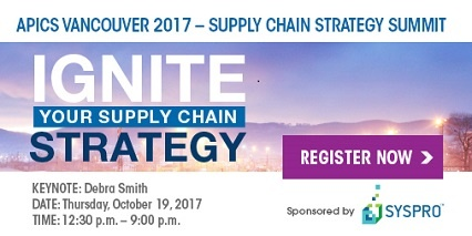 2017 Supply Chain Summit by APICS Vancouver and SYSPRO Canada