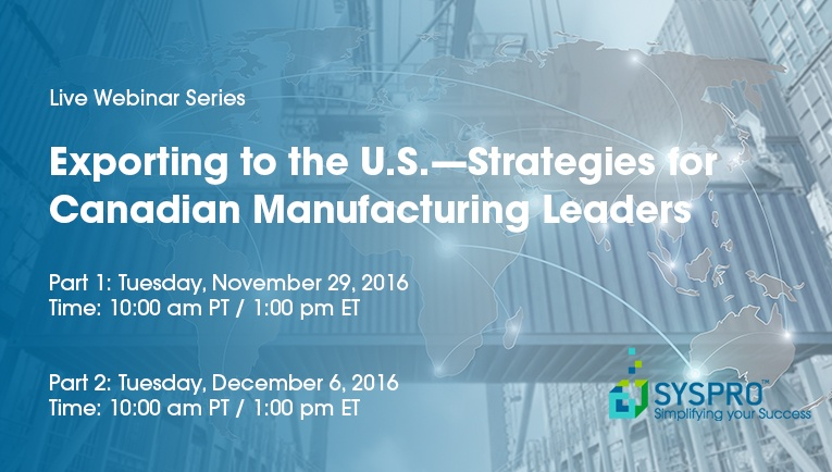 Exporting to the US Webinar Series